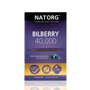【预售】NATORG 越橘40,000 护眼精华 - 含新西兰黑加仑和叶黄素 60粒