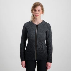 Mcdonald  斑点印花修身美丽诺羊毛夹克短款外套