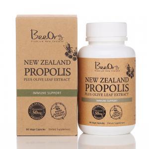 BEEORG 高含量黑蜂胶胶囊 + 橄榄叶提取物 90粒